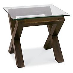 Debenhams - Walnut and glass 'Lyon' side table