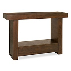 Debenhams - Walnut 'Akita' console table