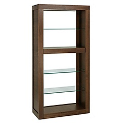 Debenhams - Walnut 'Akita' open shelving unit