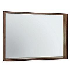Debenhams - Walnut 'Akita' wall mirror