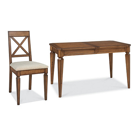 Debenhams - Oak finished 'Sophia' small extending table and cross-back chairs