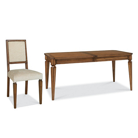 Debenhams - Oak finished +Sophia+ large extending table and chairs
