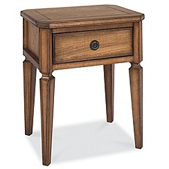 Debenhams - Oak finished 'Sophia' side table with single drawer