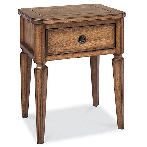 Debenhams - Oak finished +Sophia+ side table with single drawer