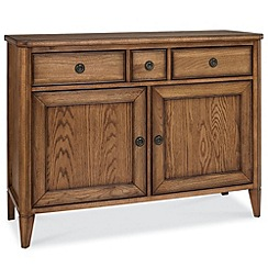 Debenhams - Oak finished 'Sophia' narrow sideboard