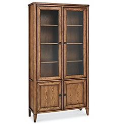 Debenhams - Oak finished 'Sophia' glazed display cabinet