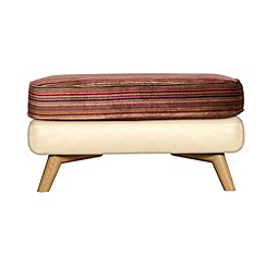 Debenhams - Leather 'Kandinsky' footstool