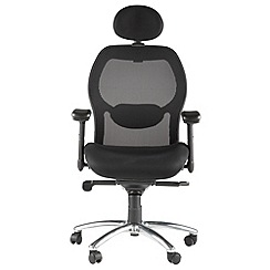 Alphason - Black 'Portland' mesh office chair