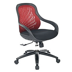 Alphason - Black and red 'Croft' mesh office chair