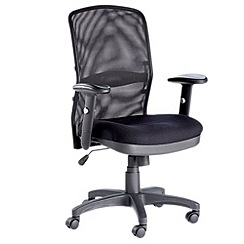 Alphason - Black 'Dakota' office chair