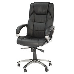 Alphason - Black leather finished 'Northland' office chair