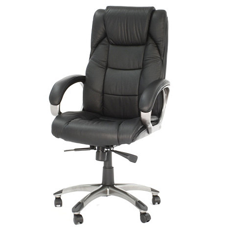 Alphason - Black leather finished +Northland+ office chair