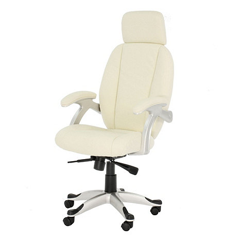 Alphason - Cream leather finished 'Bentley' office chair