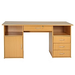 Alphason - Beech effect 'Dallas' desk