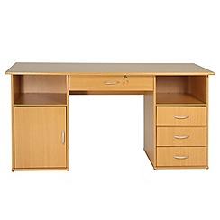 Alphason - Beech effect 'Dallas' desk