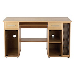 Alphason - Beech effect 'San Jose' desk