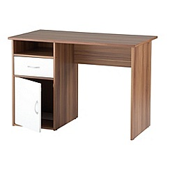 Alphason - Walnut effect 'Hastings' desk