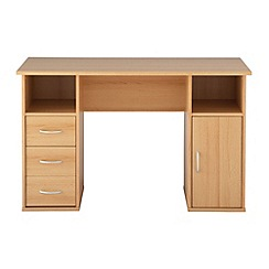 Alphason - Beech effect 'Maryland' desk