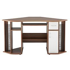 Alphason - Walnut effect 'Lyndon' corner desk