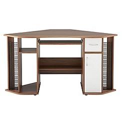 Alphason - Walnut effect 'Lyndon' corner desk