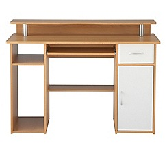 Alphason - Light wood effect 'Albany' desk