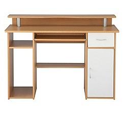 Alphason - Light wood effect 'Albany' desk