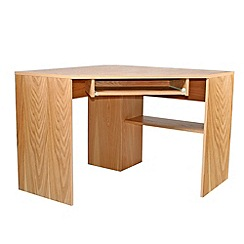 Alphason - Oak 'Oakwood' corner desk