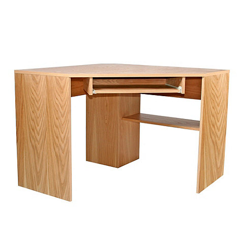 Alphason - Oak +Oakwood+ corner desk
