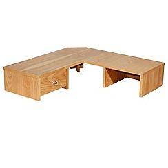 Alphason - Oak 'Oakwood' desktop corner hutch