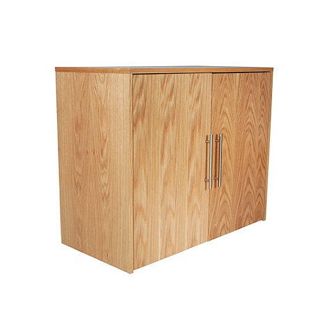 Alphason - Oak 'Oakwood' office storage
