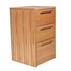 Alphason - Oak 'Oakwood' office drawers