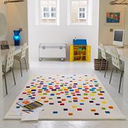 Multi coloured 'Harlequin Space Dust' rug