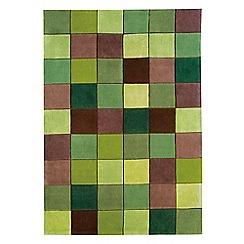 Debenhams - Green 'Eden Pixel' rug