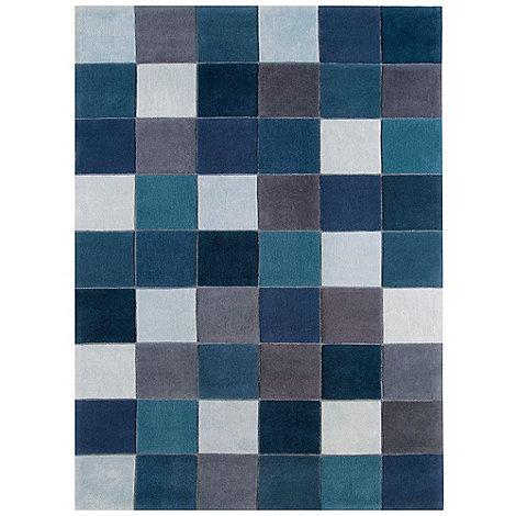 Debenhams - Blue 'Eden Pixel' rug