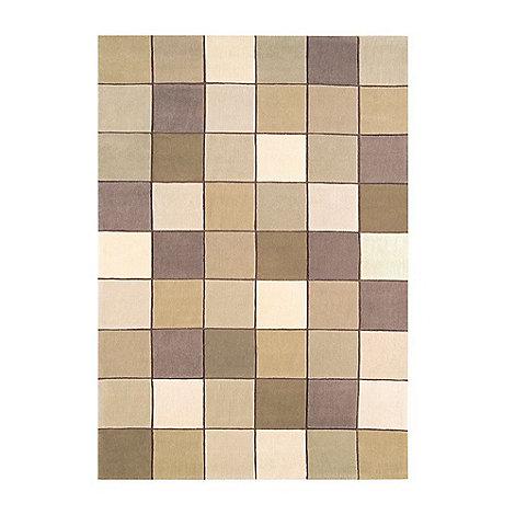 Debenhams - Beige 'Eden Pixel' rug