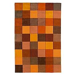 Debenhams - Terracotta 'Eden Pixel' rug