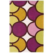 Purple and green 'Harlequin Bubble' rug