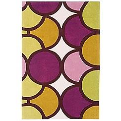 Debenhams - Purple and green 'Harlequin Bubble' rug