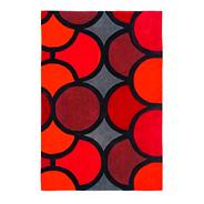 Red 'Harlequin Bubble' rug