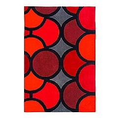 Debenhams - Red 'Harlequin Bubble' rug