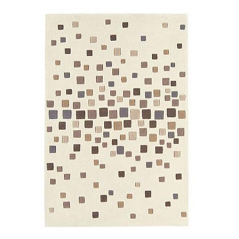 Debenhams - Beige 'Harlequin Space Dust' rug