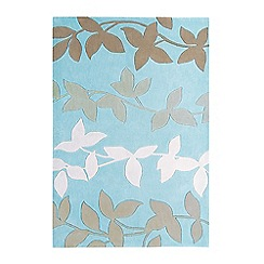Debenhams - Duck egg blue 'Harlequin Vine' rug