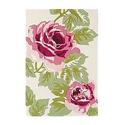 Debenhams - Pink 'Harlequin Rose' rug
