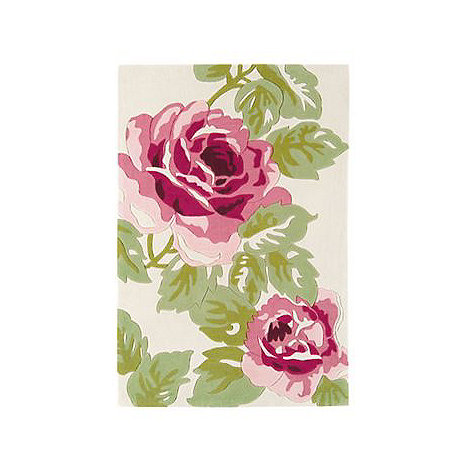 Debenhams - Pink +Harlequin Rose+ rug