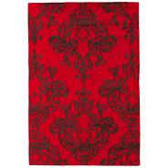 Red 'Harlequin Milano' rug