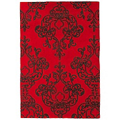 Debenhams - Red 'Harlequin Milano' rug
