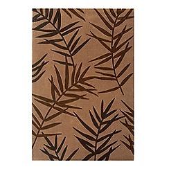 Debenhams - Chocolate brown 'Eden Palm' rug