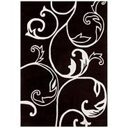 Black and white 'Eden Emma' rug