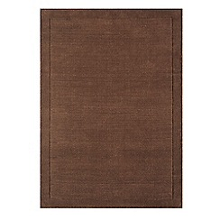 Debenhams - Chocolate brown wool 'York' rug