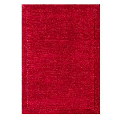 Debenhams - Red wool +York+ rug
